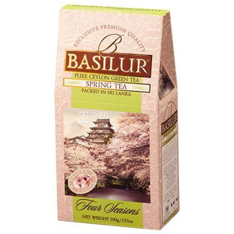 Basilur, Four seasons, Spring tea, 100 г, Чай Базілур, 4 сезони, Весна, зелений з фруктово-квітковим ароматом
