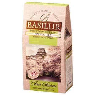 Basilur, Four seasons, Spring tea, 100 г, Чай Базилур, 4 сезона, Весна, зеленый с фруктово-цветочным ароматом