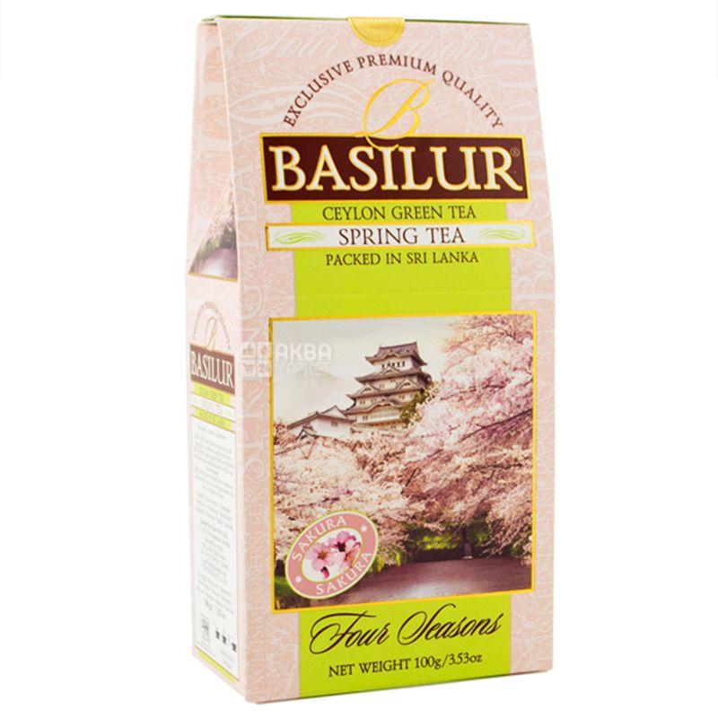 Basilur, 100 г, Чай зеленый, Four seasons, Spring tea