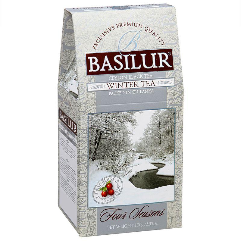 Basilur, Four seasons, Winter tea, 100 г, Чай Базілур, 4 сезони, Зима, чорний з журавлиною