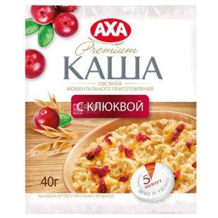 AXA, 40 g, Instant porridge, Oatmeal, Cranberries