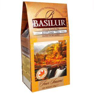 Basilur, Four seasons, Autumn tea, 100 г, Чай Базилур, 4 Сезона, Осень, черный с кленовым сиропом