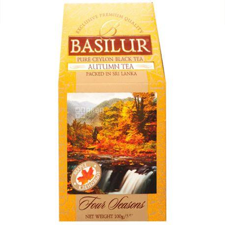 Basilur, Four seasons, Autumn tea, 100 г, Чай Базілур, 4 Сезони, Осінь, чорний з кленовим сиропом