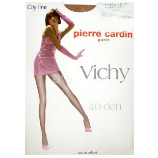 Pierre Cardin, 40 ден, розмір 2, Колготки поліамідні, Vichy, Бежеві
