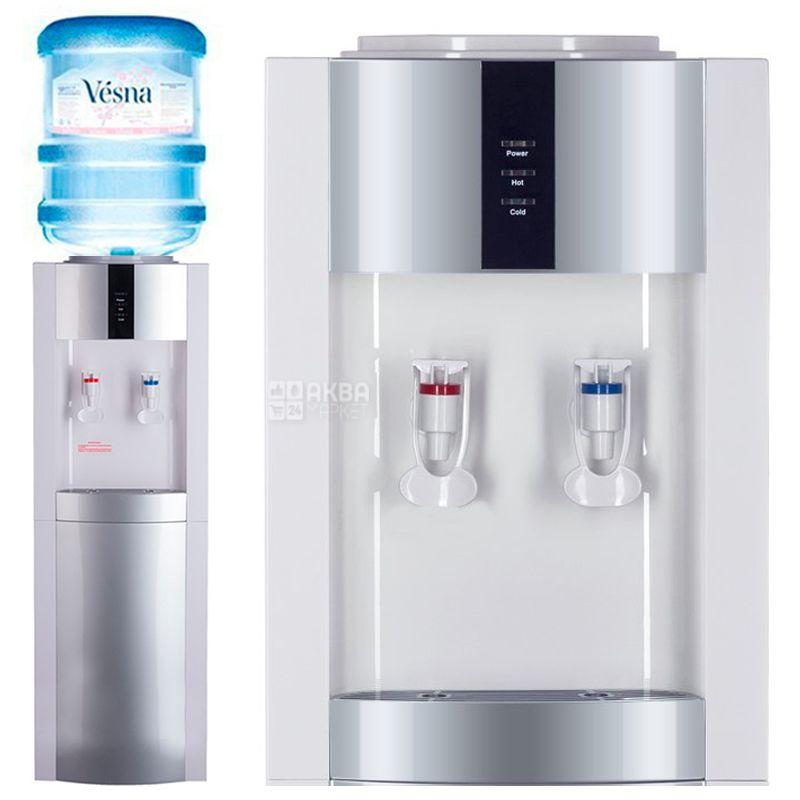 Ecotronic, V21-LE, Кулер для воды, White-Silver, Напольный