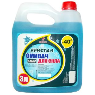 Crystal, 3 l, -40, Washer for glass, canister, PET