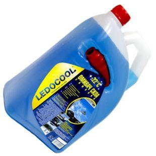 Ledocool, 5 л, -22, Омивач для скла, каністра, ПЕТ