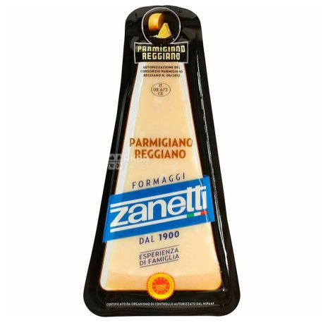 Zanetti Parmigiano Reggiano, 200 г, 32%, Сыр пармезан
