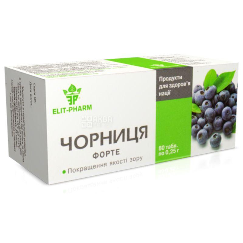 ELIT-PHARM Blueberry Forte, 80 tab. on 0,25 g, For sight