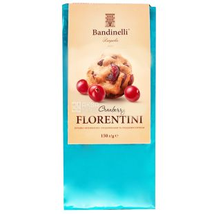 Bandinelli FLORENTINI, 150 g, Biscuits, With cranberries, m / s