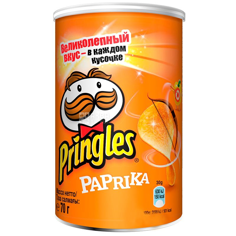 Pringles, 70 g, potato chips, Paprika, tube