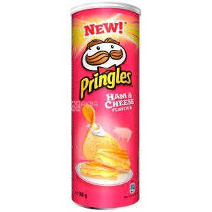 Pringles, 165 г, Чипсы картофельные, Ham & Cheese, тубус