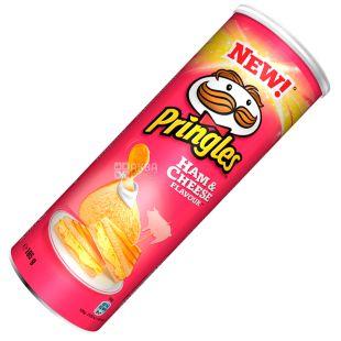 Pringles, 165 г, Чипси картопляні, Ham & Cheese, тубус