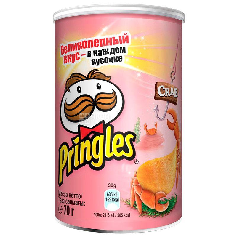 Pringles, 70g, Potato Chips, Crab, Tube