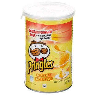 Pringles, 70 г, Чипси картопляні, Cheesy Cheese, тубус