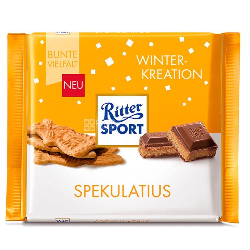 Ritter Sport, 100 г, Молочный шоколад, Имбирное печенье