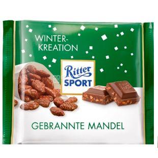Ritter Sport, 100 г, Молочний шоколад, Мигдаль в карамелі