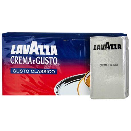 Lavazza Crema Gusto Classico, 1кг (4 х 250 г), молотый кофе, м/у