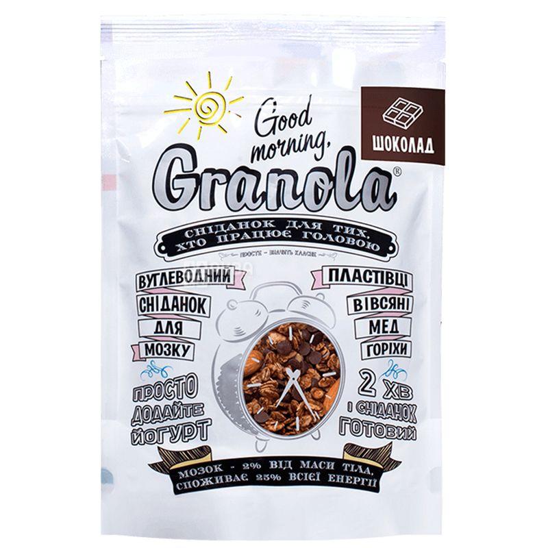 Good Morning, 330 г, Гранола Гуд Монинг, овсяные хлопья, мед, шоколад, орехи