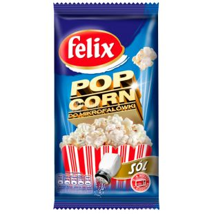 Felix, 90 g, Popcorn, With salt, For microwave