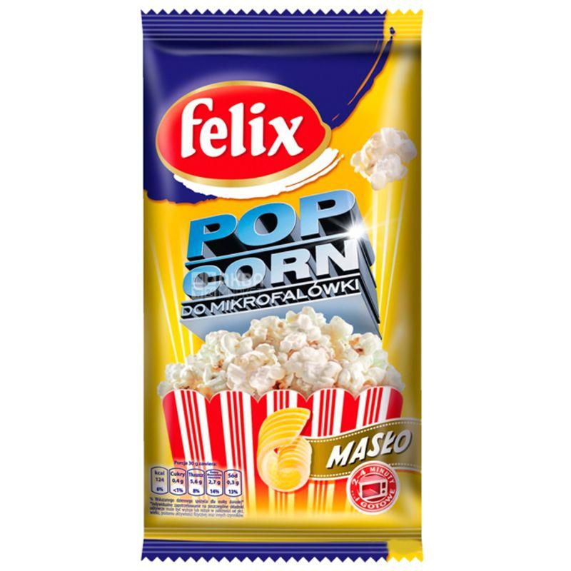 Felix, 90 г, Попкорн, Со вкусом сливочного масла, Для микроволновой печи