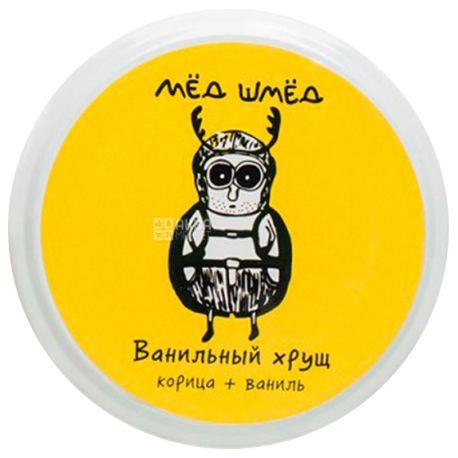 Мед шмед, 150 г, Мед, Ванильный хрущ, Корица+ваниль, стекло