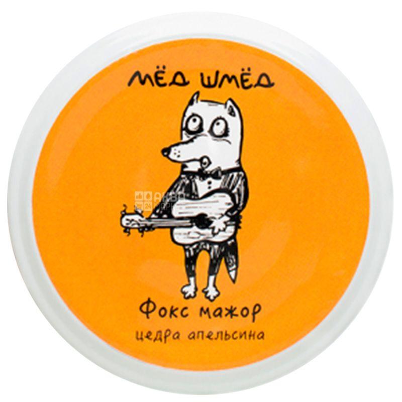 Мед шмед, 150 г, Мед, Фокс мажор, Цедра апельсина, стекло