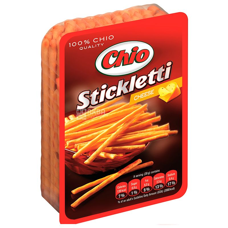 Chio, 80g, Straws, Stickletti, Salted, Sheese