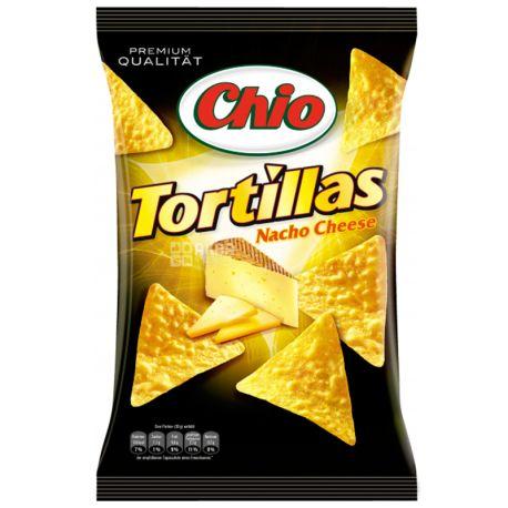 Chio, 125 г, Чипсы кукурузные, Tortillas, Nacho Cheese