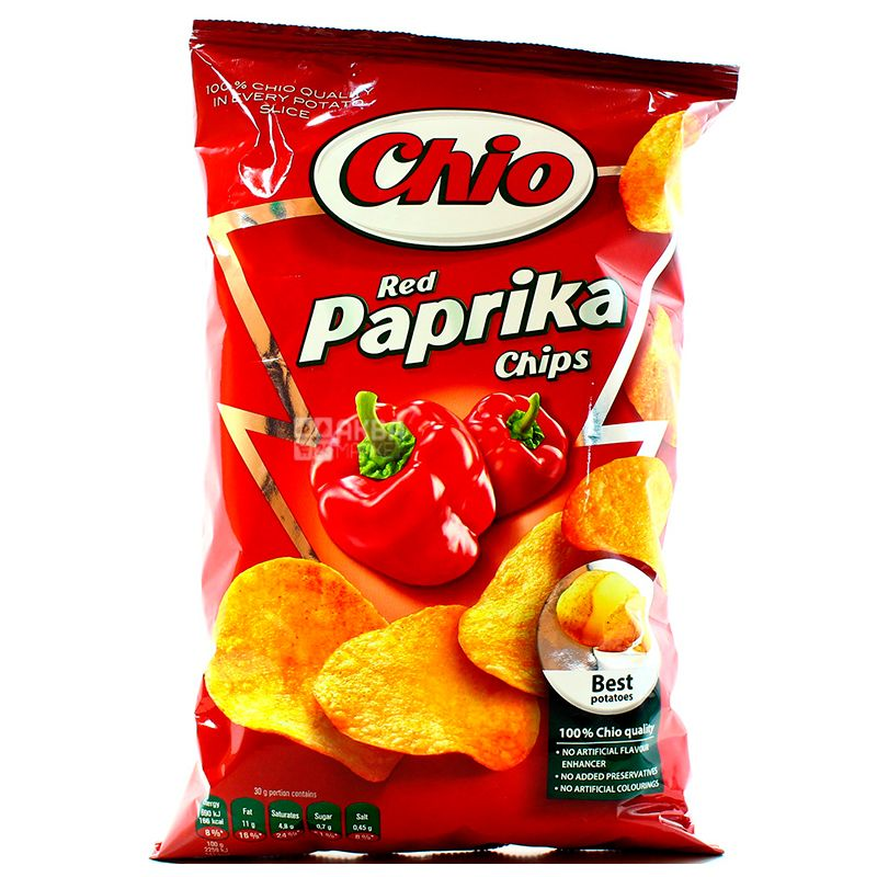 Chio, 75 г, Чипси картопляні, Chips, Red Paprika