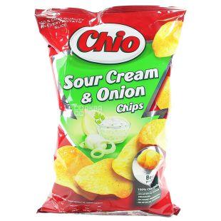 Chio, 75 г, Чипсы картофельные, Chips, Sour Сream & Оnion