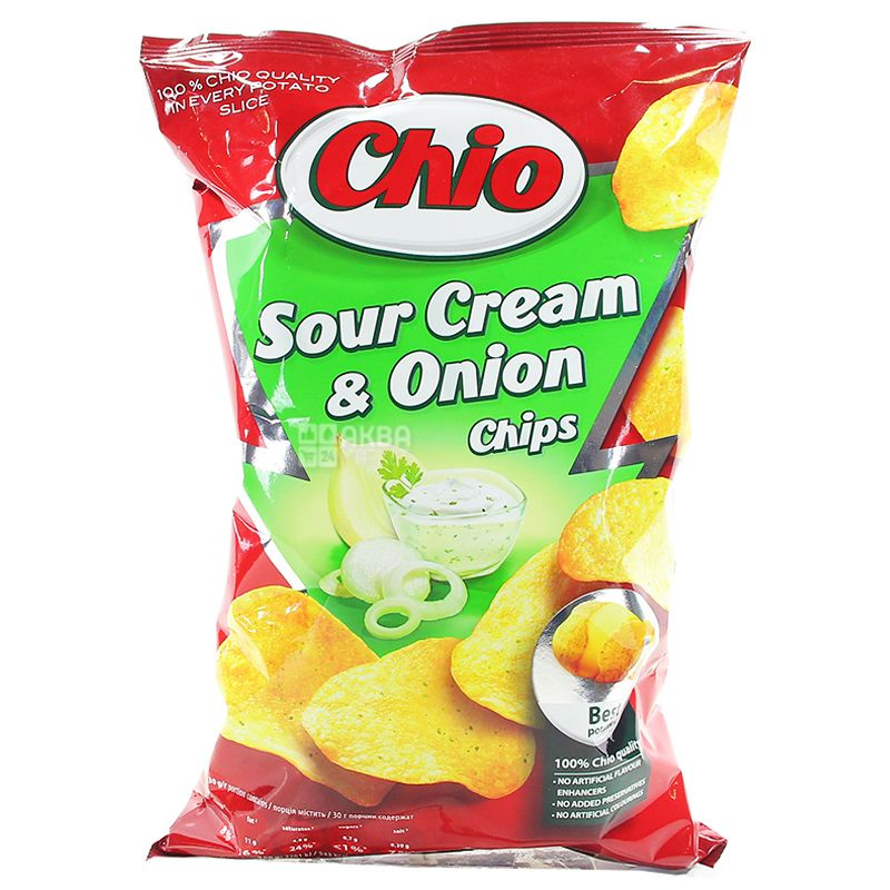 Chio, 75 г, Чипси картопляні, Chips, Sour Сream & Оnion
