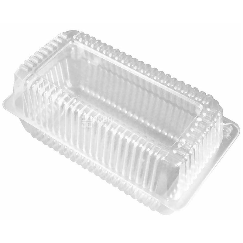 Контейнер харчовий, 130х230х68 мм, прозорий, 10 шт., блістер