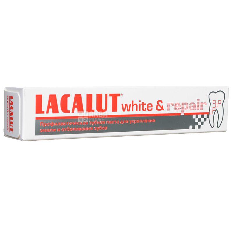 Lacalut, 75 мл, Зубная паста, White & Repair