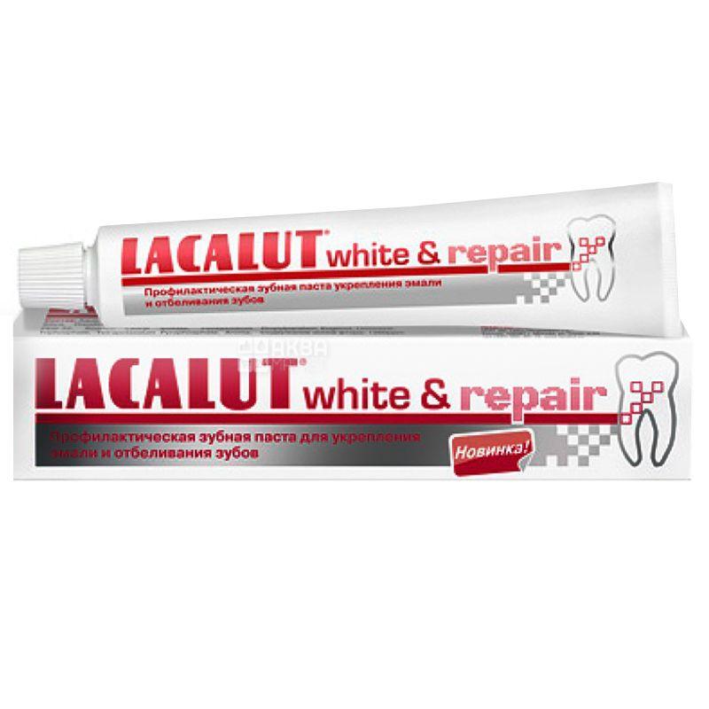 Lacalut, 75 мл, Зубна паста, White & Repair