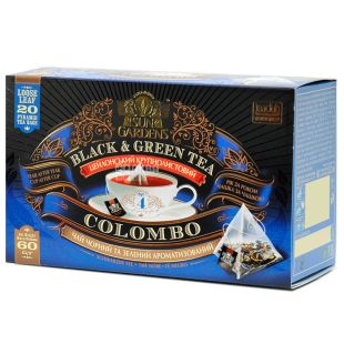 Sun Gardens, 20 шт., Чай, Суміш чорного та зеленого, Colombo Mix