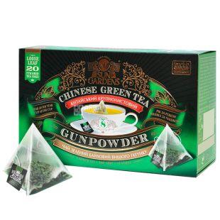 Sun Gardens, Gunpowder, 20 пак., Чай Сан Гарденс, Ганпаудер, зелений, крупнолистовий
