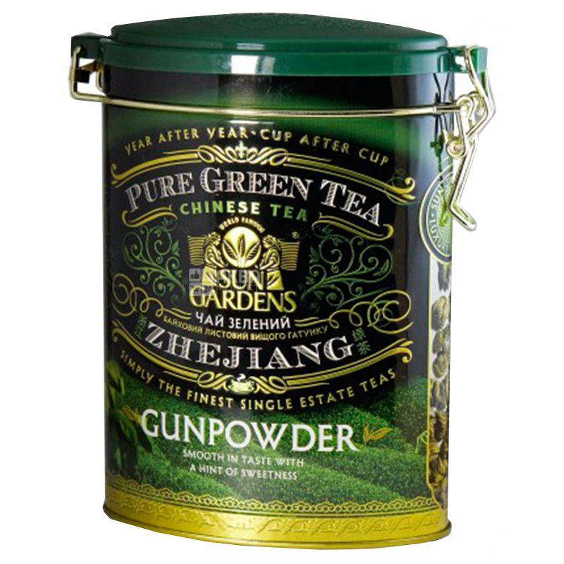 Sun Gardens, Gunpowder, 100 г, Чай Сан Гарденс, Ганпаудер, зеленый, крупнолистовой