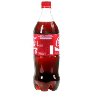 Coca-Cola, 1 л, Солодка вода, ПЕТ
