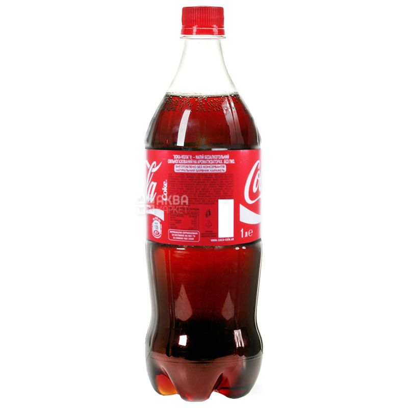 Coca-Cola, 1 л, Кока-Кола, Вода солодка, ПЕТ