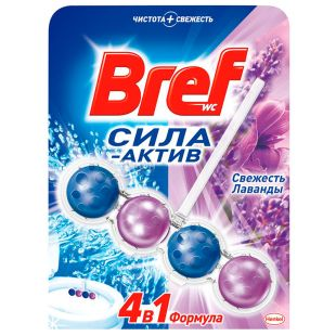 Bref, 50 g, Toilet bowl, Power-active, 4 in 1, Freshness of lavender