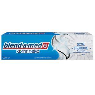 Blend-a-med, 100 мл, Зубная паста, Комплекс, Экстра отбеливание