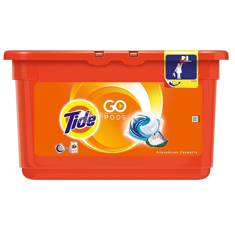 Tide, 30 pcs., Laundry Capsules, Automatic, Alpine Freshness