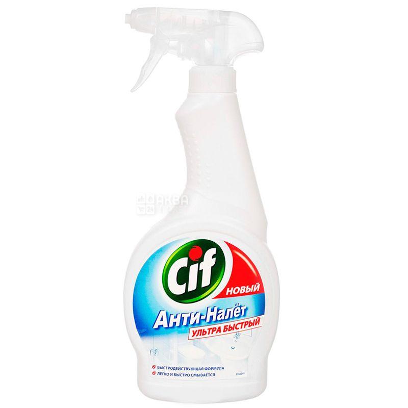 Cif, Средство моющее для ванной, Анти-налет, Ультра быстрый, Спрей, 500 мл