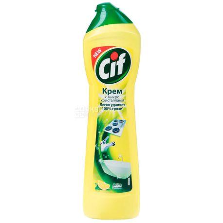 Cif, Чистящий крем, Универсальный, Active Lemon, 500 мл