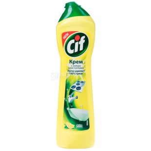 Cif, 500 ml, Cleaning cream, Universal, Active Lemon