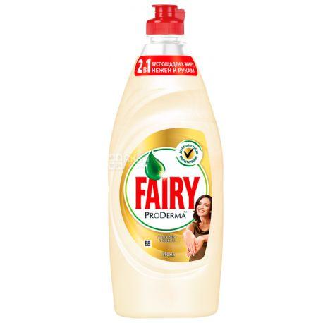 Fairy, 650 мл, Средство для мытья посуды, ProDerma, Алоэ Вера и Кокос