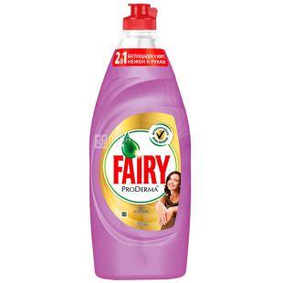 Fairy, 650 мл, Засіб для миття посуду, ProDerma, Шовк та орхідея
