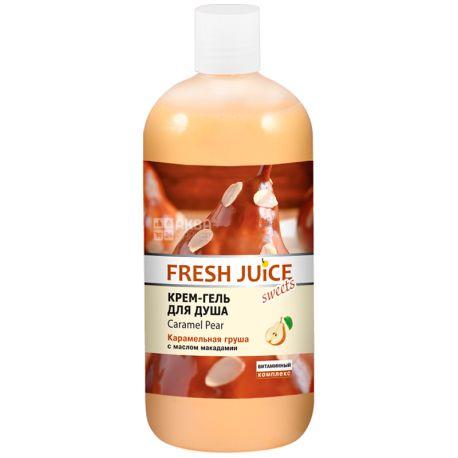 Fresh Juice, 500 мл, Крем-гель для душу, Sweets, Caramel Pear