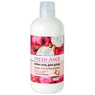 Fresh Juice, 500 мл, Крем-гель для душа, Dragon Fruit & Macadamia